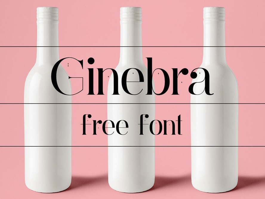 Ginebra -  free sans serif serif typeface design freebies freebie typography typogaphy typefaces typeface free fonts free font font family font