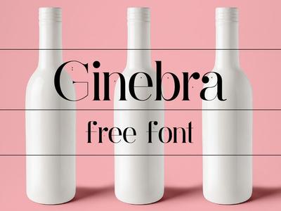Ginebra -  free sans serif serif typeface