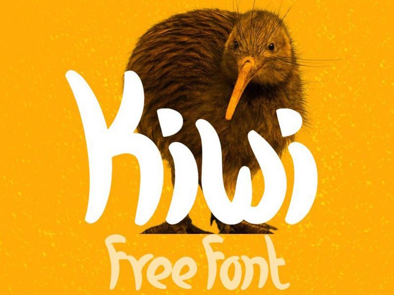 Kiwi - free fresh and casual font design freebies freebie typography typogaphy typefaces typeface free fonts free font font family font