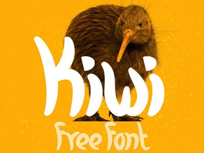 Kiwi - free fresh and casual font
