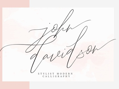 John Davidson - free modern calligraphy font