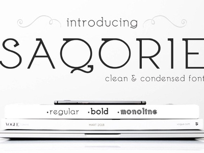 Saqorie - free clean Condensed Typeface