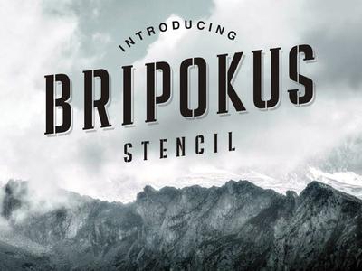 Bripokus - free Condensed Stencil Typeface.