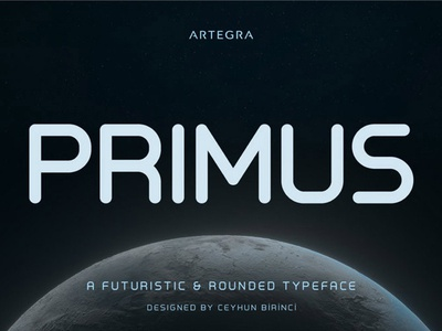 Primus - free futuristic font