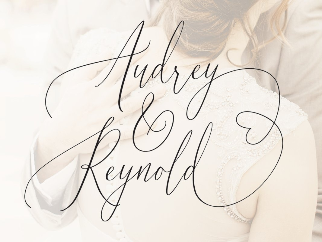 Audrey & Reynold Free Wedding Font by Kendrick Smith on Dribbble