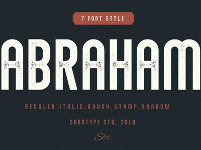 Abraham Free Font Family