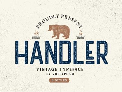 Handler Free Vintage Font