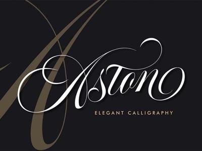 Aston Free Elegant Calligraphy Font