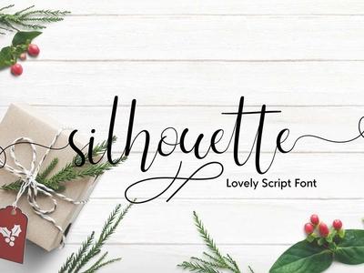Silhouette Free Feminine Font