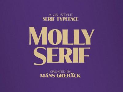 Molly Free Serif Font Family