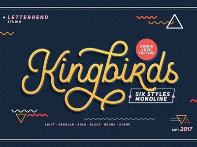 Kingbirds - Free Monoline Script Font