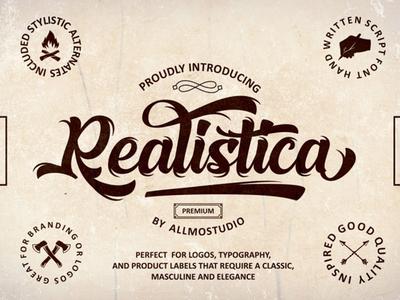 Realistica Free Script Font