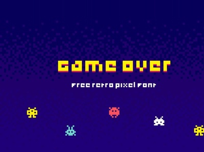 Game Over Free Pixel Font