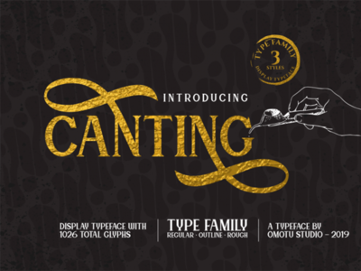 Canting Free Display Typeface