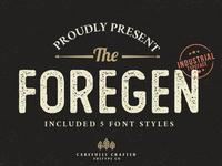 The Foregen - Free Vintage Font