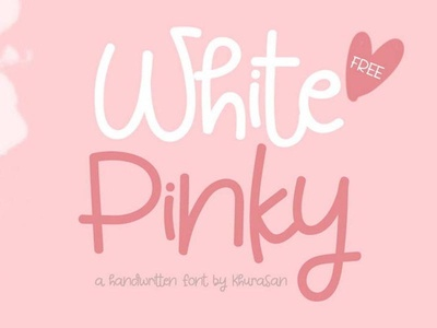 White Pinky - free casual handwritten font