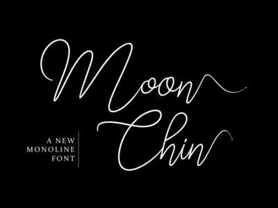 Moon Chin - Free Script Baseline Font