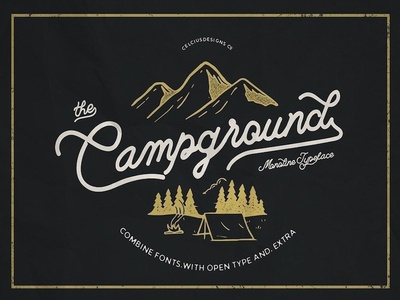 Campground - Free font