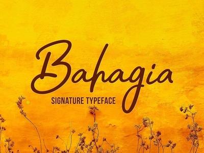 Bahagia - free signature font