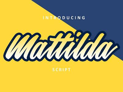 Mattilda - free handwritten font