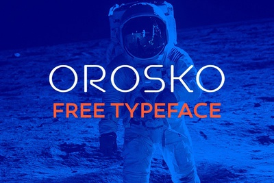 Orosko - free geometric typeface
