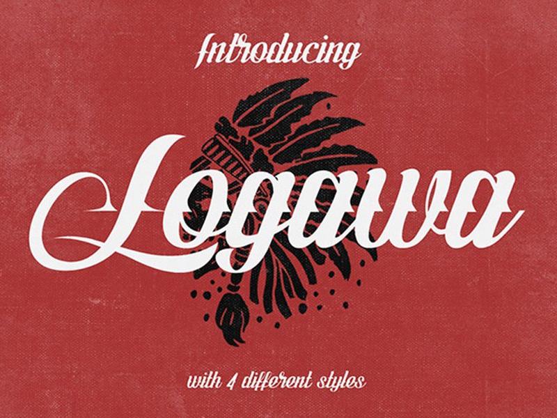 Logawa - Free Tattoo Font typography design typography typeface free fonts free font freebies freebie fonts free tattoo font font family font design font awesome font