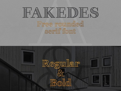 Fakedes - free rounded font