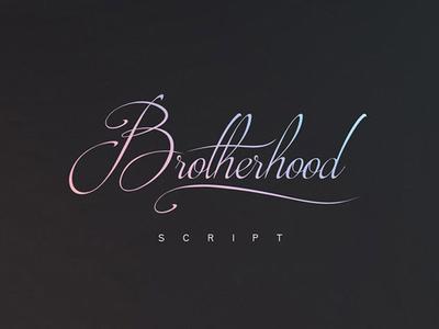 Brotherhood - free elegant handwritten font