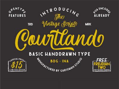 Courtland - free vintage script font