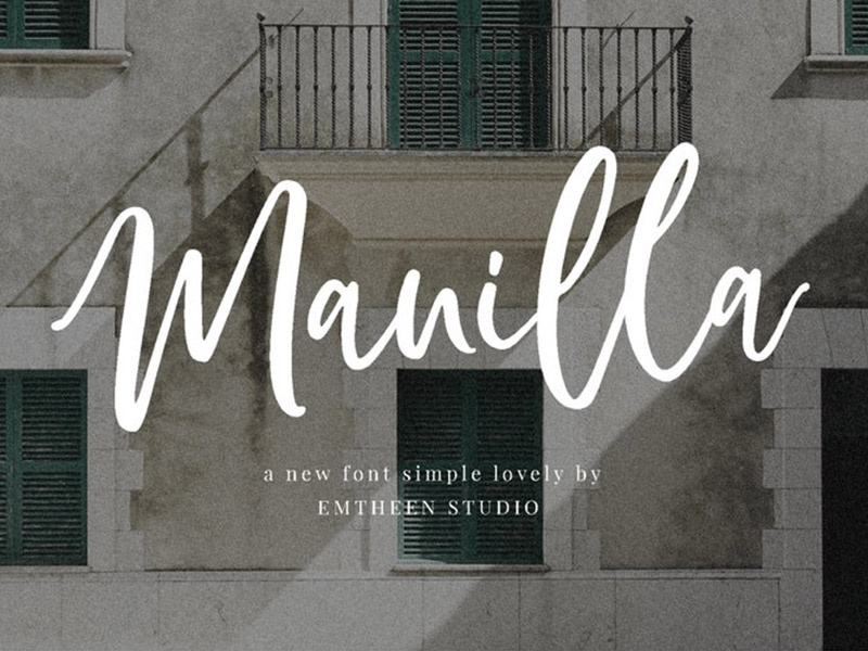 Manilla - free simple script-style font typography design typography typeface free fonts free font freebies freebie fonts font family font design font awesome font
