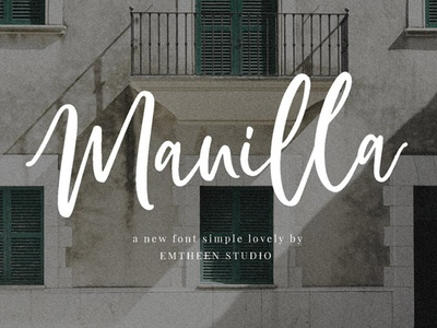 Manilla - free simple script-style font
