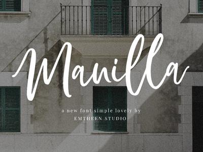 Manilla - free simple script-style font