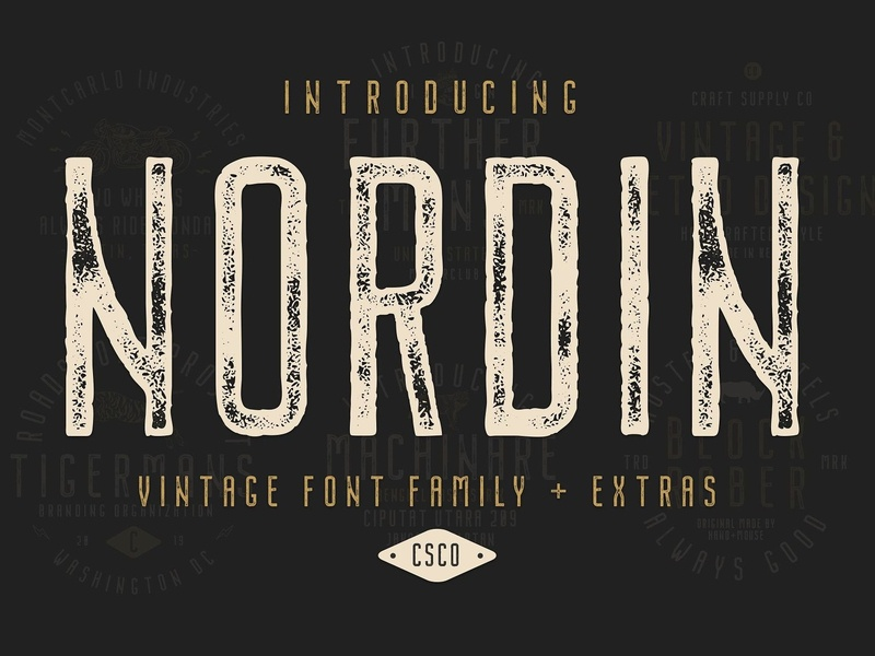 Nordin - Free Vintage Font Family by Julian Smith on Dribbble