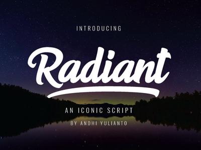 Radiant Free Bold Script Font