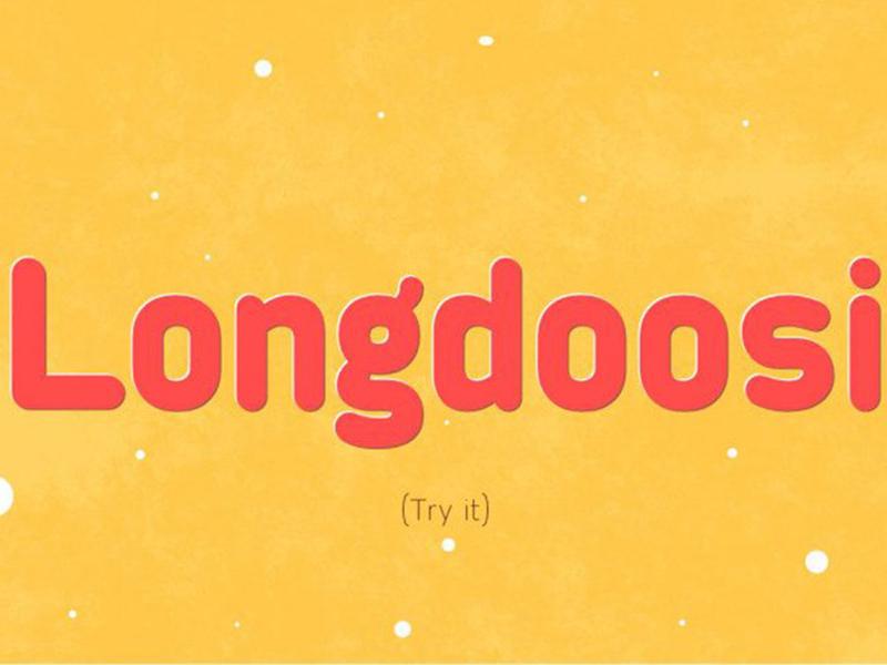 LongDoosi Font typography design font awesome typography typeface free fonts free font freebies freebie fonts font family font design font