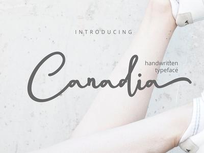 Canadia Script Handwritten Font