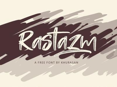 Rastazm - Free Eye-catching Handmade Font