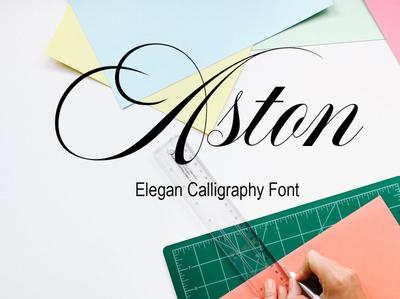 Aston Ellegan Calligraphy Font Free
