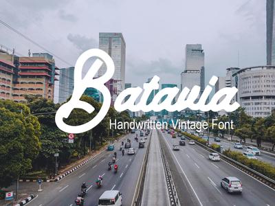 Batavia Handwritten Vintage Font Free