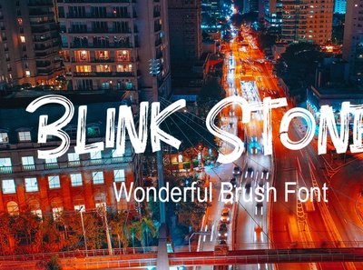 Blink Stones Wonderful Brush Font Free
