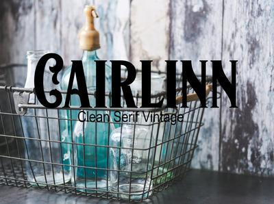 Cairlinn Clean Serif Vintage Font