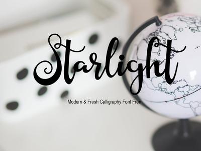 Starlight Modern & Fresh Calligraphy Font Free