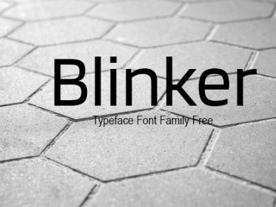 Blinker Typeface Font Family Free