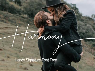 Harmony Handy Signature Font Free