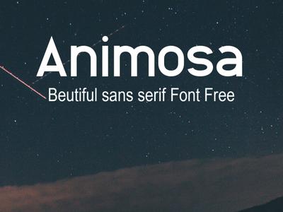 Animosa Beutiful sans serif Font Free