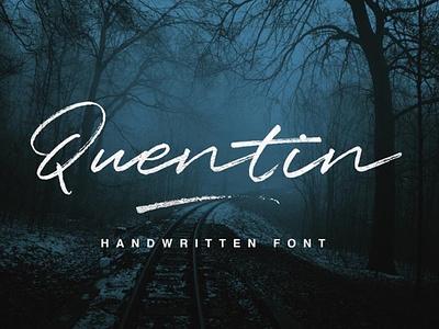 Quentin Handwriting. Font Free typography freebie fonts font design font