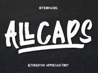 All Caps Handwriting Font Free