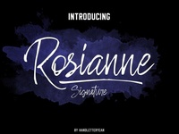 Rosianne Bold and unique Handwritten font Free