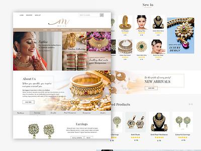 Maika Jewelry bangles jewelry wedding photoshop web design ui