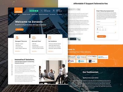 Zenzero cloud computing it solutions corporate photoshop web design ui